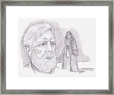 Ben Obi Wan Kenobi Framed Print by Chris  DelVecchio