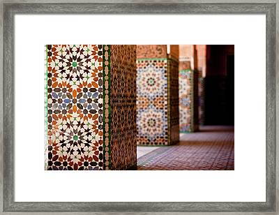 Ben Youssef Medersa Framed Print by Kelly Cheng Travel Photography