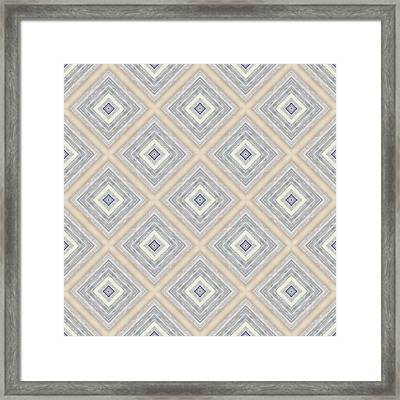 Bench And Wall Pattern Pastel Hues Framed Print by Hakon Soreide