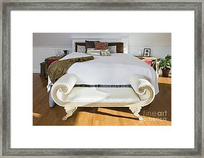Bench At Foot Of Bed Framed Print