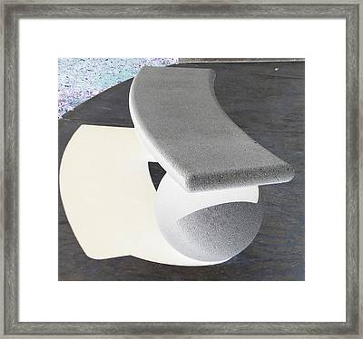 Bench Framed Print by David Alvarez