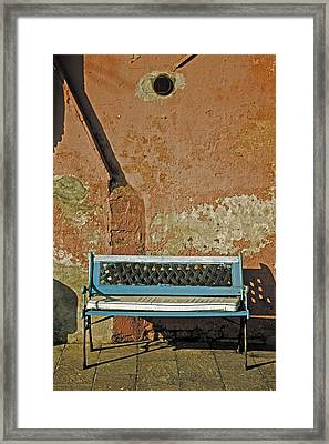 Bench Framed Print by Joana Kruse