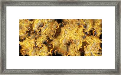 Bench Layers Framed Print by Ron Bissett
