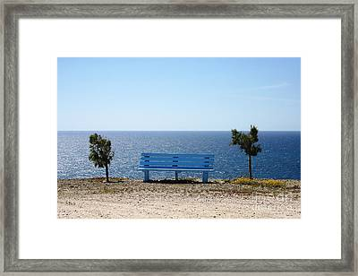 Bench With A View Framed Print by Phoenix Michael  Davis