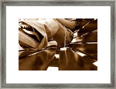 Benched Ipod Framed Print