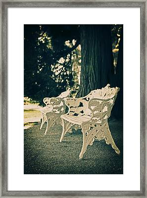 Benches Framed Print by Joana Kruse
