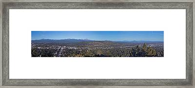 Bend Oregon Panorama Framed Print