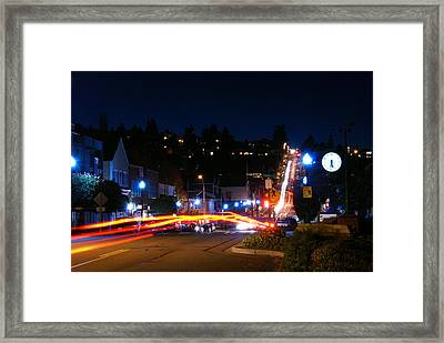 Framed Print featuring the photograph Bending Light Through Old Town by Rob Green