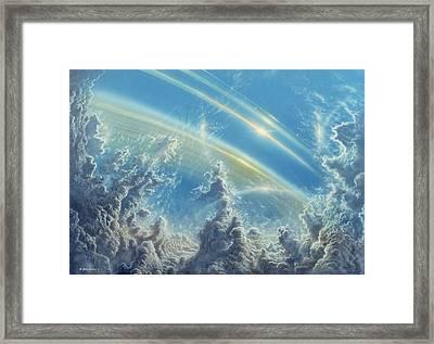 Beneath Saturn's Rings Framed Print