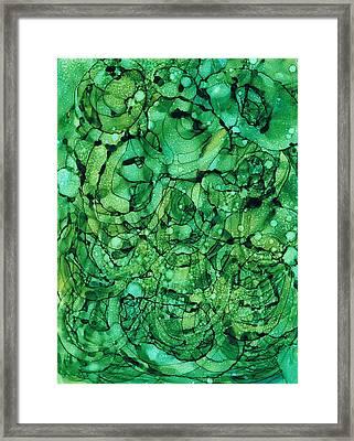 Beneath The Emerald City Framed Print by Christine Crawford
