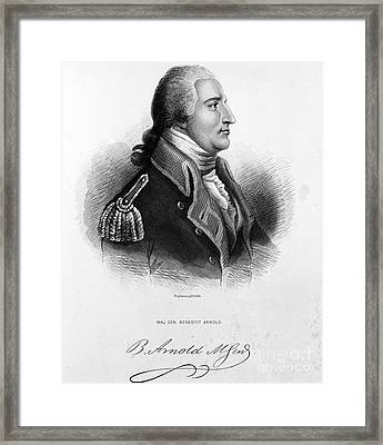 Benedict Arnold, American Traitor Framed Print by Omikron