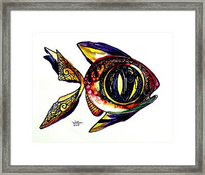 Benedict The Sixteenth Fish Framed Print by J Vincent Scarpace
