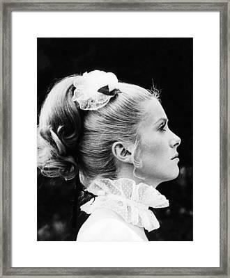 Benjamin, Catherine Deneuve, 1968 Framed Print