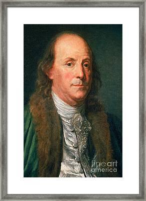 Benjamin Franklin, American Polymath Framed Print by Photo Researchers