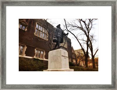 Benjamin Franklin  Framed Print by Bill Cannon