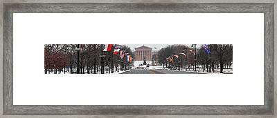 Benjamin Franklin Parkway Panorama Framed Print by Bill Cannon
