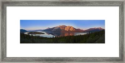 Bennett Lake And Nares Lake Carcross Framed Print by Blake Kent