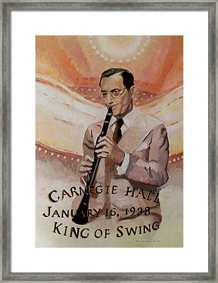 Benny Goodman Portrait Framed Print