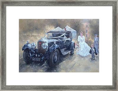 Bentley And Bride  Framed Print by Peter Miller