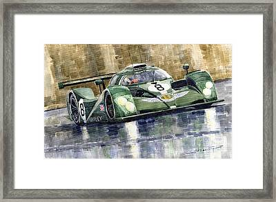 Bentley Prototype Exp Speed 8 Le Mans Racer Car 2001 Framed Print by Yuriy  Shevchuk