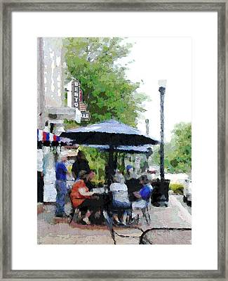 Bentonville On The Square Framed Print by Ann Powell