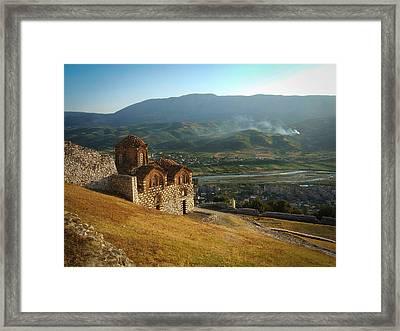 Berati Castle Framed Print by Emma Quedzuweit
