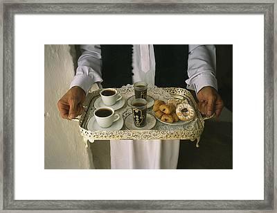 Berber Hospitality In The Form Of Tea Framed Print
