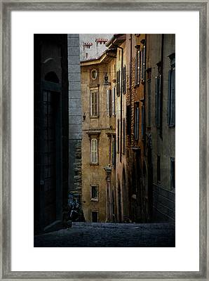 Bergamo Alley Framed Print by Perry Van Munster
