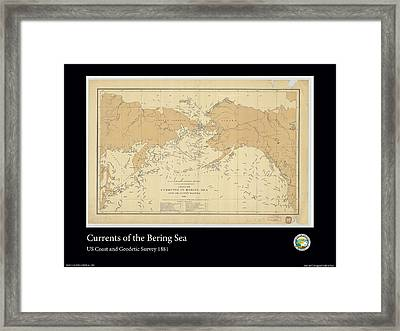 Bering Sea Currents 1881 Framed Print by Adelaide Images