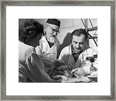 Beritashvili And Students, Tbilisi, 1962 Framed Print by Ria Novosti