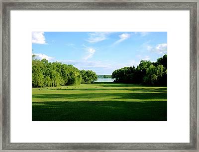 Berkeley Plantation River View Framed Print by Faith Holt