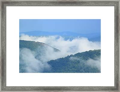 Berkshire Mist Deerfield River Valley Framed Print by John Burk