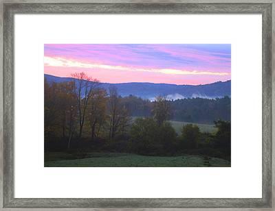 Berkshires Sunrise Framed Print by Todd Breitling