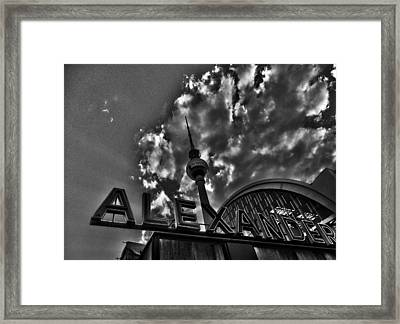 Berlin Alexanderplatz Framed Print