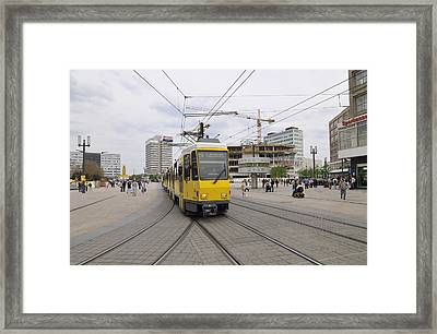 Berlin Alexanderplatz Square Framed Print by Matthias Hauser