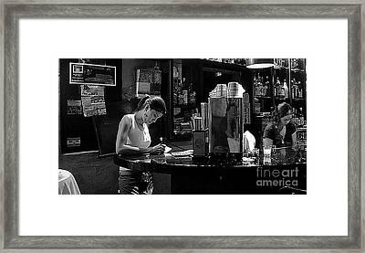 Berlin Bar In San Miguel De Allende Framed Print by John  Kolenberg
