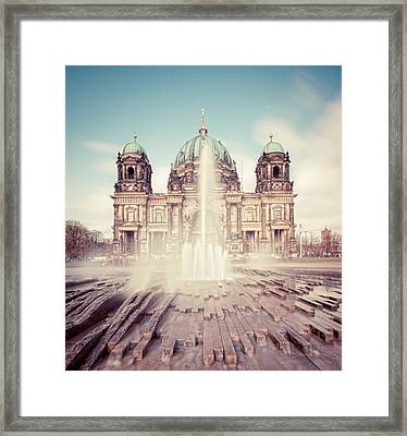 Berlin Cathedral (berliner Dom) In Germany Framed Print by Matthias Makarinus