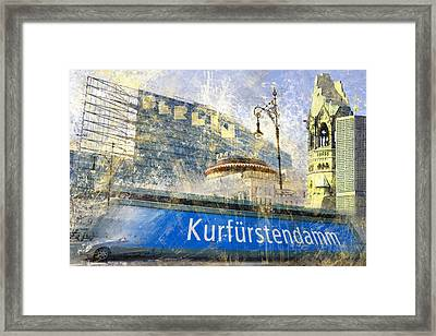Berlin Composing Framed Print by Melanie Viola