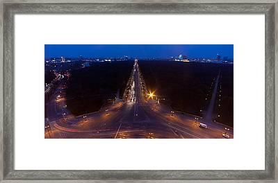 Berlin From The Siegessaule  Framed Print by Mike Reid