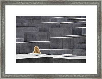 Berlin Germany Holocaust Memorial Framed Print