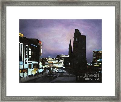 Berlin Nocturne Framed Print by Michael John Cavanagh