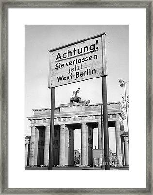 Berlin Framed Print by Photo Researchers, Inc.