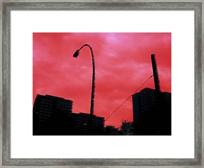 Berlin Red Framed Print