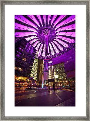 Berlin Sony Center Framed Print