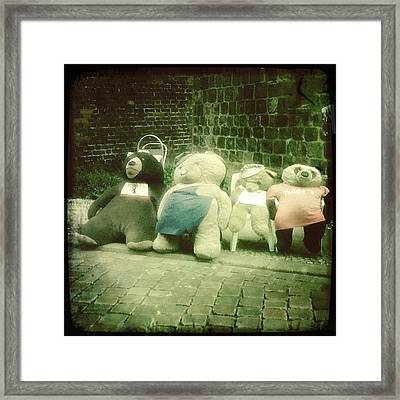 #berlin #teddy #bear #bär #igersberlin Framed Print