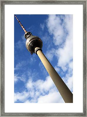 Berlin Television Tower Picture Framed Print