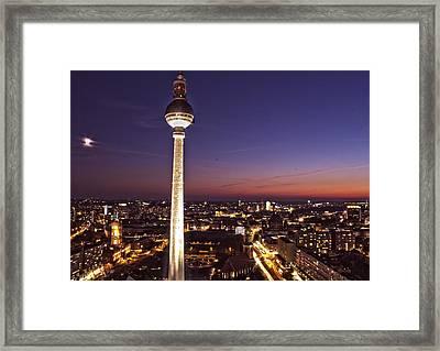 Berlin Tv Tower Framed Print by Bianca Baker