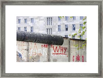 Berlin Wall Framed Print by Matthias Hauser
