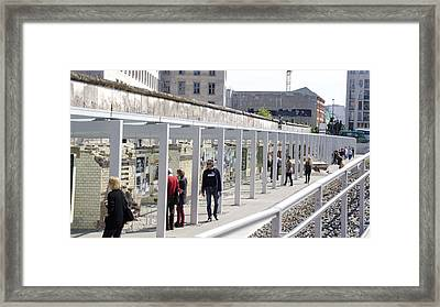Berlin Wall Remains Framed Print by Jon Berghoff