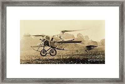 Berliner Helicopter At Take Off Framed Print